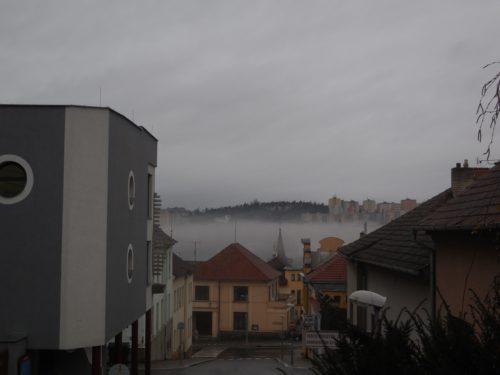 Mlha nad Třebíčí